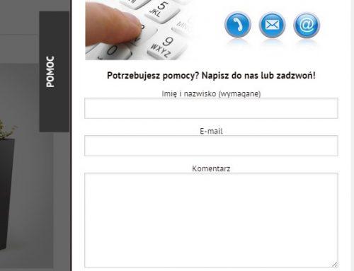 Wysuwany panel z formularzem kontaktowym dla WordPress