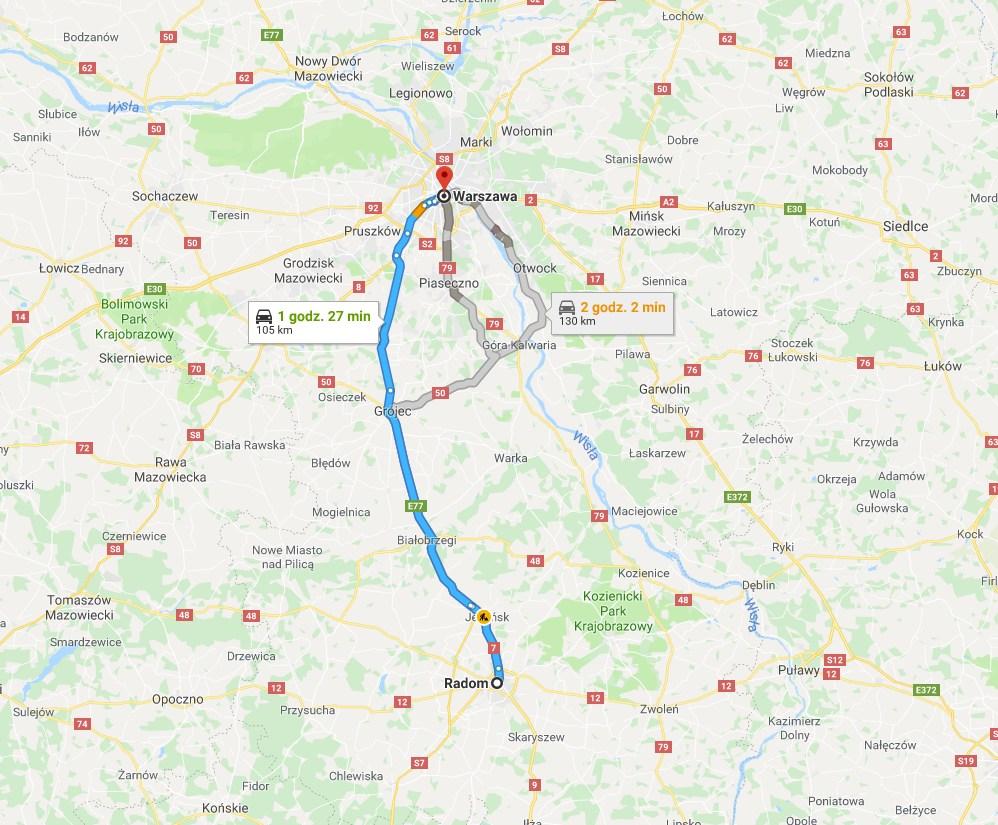 Czas dojazdu do pracy w Domoticz z użyciem Google Maps